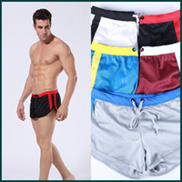 Wholesale WJ brand Men s Sportswear Shorts Pouch Running Boxer Short Homewear Trousers breathable comfortable casual Trunks men s shorts