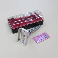 Wholesale Exquisite HL877 Men s Double Edge Shaving Safety Razor White Metal