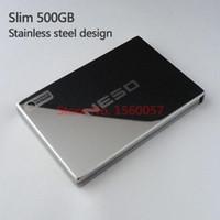 Wholesale NESO Slim Mobile HDD G External Hard Drive Portable Hard Disk USB2 Stainless steel design