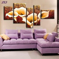 Cheap The Calla Lily Best Quality Oversized Handmade Modern Abstract Canvas Oil Painting Wall Art Gift ,Top Home Decoration Z001