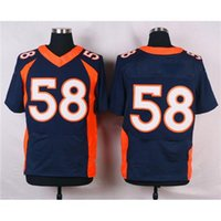 name brand apparel - Blue Jerseys High Quality Embroidered Name Number American Football Jersey Football Shirts Brand Jerseys Hotest Football Apparel