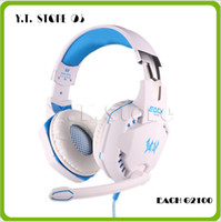 headphone pro - EACH G2100 Vibration Function Pro Gaming Headphone Games Headset with Mic Stereo Bass LED Light for PC Gamer