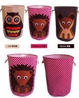 Wholesale DHL Fedex Cartoon Animal Easter Baskets storage bins storage case organizer Iron case storage container