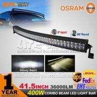utv - 400W OSRAM Curved LED Light Bar Combo Beam Offroad Led Work Light V V SUV ATV UTV WD X4 Off Road Led Light Bar