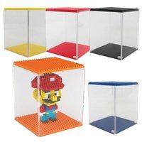 Wholesale Prettybaby building blocks show box display case LOZ display cases Plastic diy display box colors Pt0253
