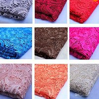 Wholesale Cheap Tops High Quality Mix Color Water Soluble D African Lace Venice Lace Dress Fabrics Wedding Dress Fabrics