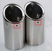 Wholesale 2Pcs set For Volkswagon VW New Bora L new Jetta T Scirocco Golf Exhaust Muffler Tip End Pipe Stainless Steel
