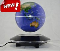 Wholesale 6 inch Magnetic Levitation Floating Globe with negative ion generator the originality festive supplies desktop decor Xmas gift