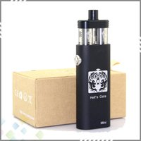 18650 0.1ohm Hell's Gate Mini Mod Newest Hells Gate Mini Mod Electronic Cigarette Black Silver Mini Hell's Gate Box Mod for 18650 Battery 2 Yep RDA Atomizer DHL Free