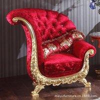 Continental sofá de tecido vermelho loja poltrona KTV imagem personalizada do casamento sofá sofás Chair