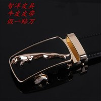 belt buckle types - Belt man leather belt casual and korean type pure cowleather belt automatic buckle belts widened