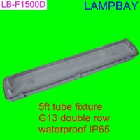 Wholesale pieces T8 T10 LED tube fixture ft double row waterproof IP65 with G13 holder and accessory easy install ceiling fitting