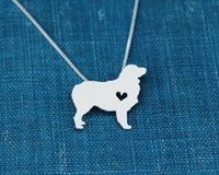 australian shepherd dogs - 2016 New choker Love Women Necklace Men Australian Shepherd Necklace silver dog bijoux femme Pendant Pet Collar Bohemian Jewelry