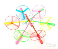 Wholesale Flying fairies flying disc wheel push plastic bamboo dragonfly flying saucer frisbee