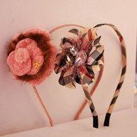 fabric korea - 2015 cute korea Hair Sticks bowknot hair Accessories girls hair accessories Fabric chiffon flower kids headbands