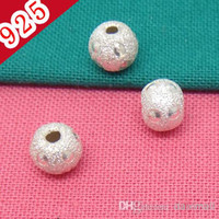 Wholesale Bulk Price Min piece Pure Silver mm Fashion Bling Bling Jewelry Beads Settings for Necklace or Bracelets