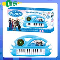 Wholesale New Snow Queen Children s Christmas Gift Quality Children Electronic Organ Cartoon Electronic Organ With Music scale D dazzle light