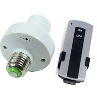 Wholesale Useful E27 Screw Wireless Remote Control Light Holder Cap with Socket Switch