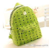 mcm 2013 - MCM Backpack Bag Punk Rivets PU Leather New Arrival Cheap high quality durable