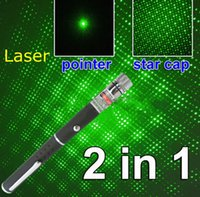 No box light - Starry light MW nm in green light Beam Laser Pointer Pen Kit SOS Mounting Hunting teaching Xmas with battery Fabr Retail box