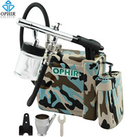airbrush shirts - OPHIR Pro mm Down Pot Airbrush Kit with Blue Camouflage Mini Air Compressor for Temporary Tattoo Hobby T Shirt Model Paint