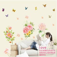 atmosphere walls - bedroom decoration new flower wall stickers bedroom sofa TV backdrop decorative stickers Paper flowers ABC1044 atmosphere