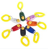 Wholesale 1500pcs clickers pet dog cat horse bird click obedience clicker Training Trainer with Wrist Strap DY