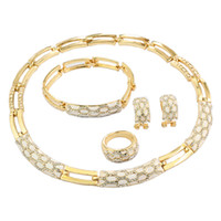 Bracelet,Earrings & Necklace african ivory bracelet - Classic Charm Jewelry Sets K Gold Plated jewelry High Quality Party Gifts AL1113 RED BLACK PURPLE WHITE