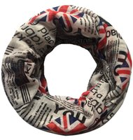 Wholesale HIGH QUALITY Newspaper Union Jack Print Infinity Loop Women s Scarf Super Soft Lightweight for all Seasons