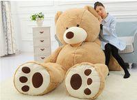Géant ours brun stuff toy France-TEDDY ours en peluche MARRON CLAIR GIANT JUMBO 260cm cadeau d'anniversaire d'enfants anniversaire jouet DHL Fedex livraison gratuite