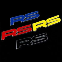 Wholesale Hot car Rs car stickers sports paragraph RS Emblem Badge Car simbol bermotor