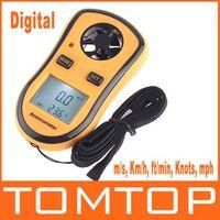 Wholesale Digital Pocket Anemometer Wind Speed Meter Thermometer Tachometer Test Meter Contas De Rpm Air Flow