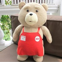 24 7 - Movie Teddy Bear Ted Plush Toys In Apron CM Soft Stuffed Animals Bear Plush Christmas Gift Dolls Frozen Minion Minecraft