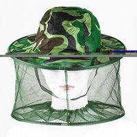 Wholesale New Mosquito Bug Insect Bee Resistance Sun Net Mesh Head Face Protector Hat Cap for Men Women MZN O9Z