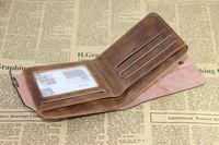 aluminum money clip - Mens Leather Bifold Wallet Pockets Card Clutch Cente Money Clip Cad Holder Purse
