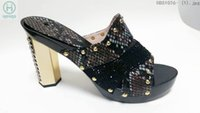 womans shoes - High quanlity rhinestone decorated ladies womans shoes slipper sandals
