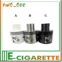 28mm Doge RDA atomiseur SS Black réservoir Airflow contrôle Doge atomiseur VS Onslaught Monstre Nuage V2 Big Dripper adapter Caravela Givo