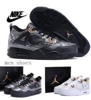 newest basketball shoes - 2016 Newest Nike dan Snakeskin Leather Men Basketball Shoes Original Quality dans Retro AJ4 Running Shoes With Jordan Box