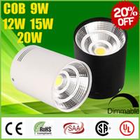 Venta grande del CREE 9W 12W 15W 20W Surface Mounted LED COB Focos regulable CRI88 caliente Natural Cool blanco Fixture techo abajo se enciende la lámpara CSA