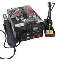 Wholesale saike D rework station hot air gun soldering station with power in V or V W with of free accessories