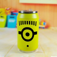stainless steel travel mug - New Despicable Me Yellow Stainless Steel Tea Water Coffee Flask Cute Vacuum Cup Travel Mug Cans Convenient Cartoon