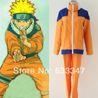 Wholesale Brand New Uzumaki Naruto nd The First generation Cosplay Costume Clothes and Trousers High Qualigy