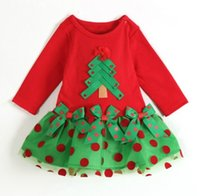 Wholesale Fashion Baby Girl Dress Christmas Costumes for Children New Year Party Summer Infant Clothes Toddler Outfits Bebe Clothing