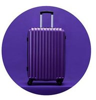 Wholesale bromen Trolley theft zipper luggage suitcase caster mirror password Trolley Hard luggage inch Purple
