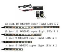 Wholesale 4 Sizes Double Bright Led Strips Remote Controls Street Motorcycle Lighting Color Kit