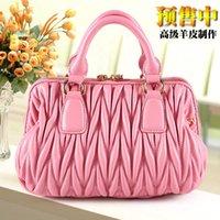 Wholesale original sheepskin handbags European and American style handbag brand Fold shoulder bags crossbody