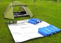 Wholesale Outdoor Aluminum Oil Camping Mat Waterproof camping Tent Pads M EVA Picnic Blankets Baby Crawling mat