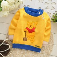 baby boy sweaters to knit - Autumn Winter new style Baby boys Cartoon knit pullover sweaters children fashion sweater colors to choose V975