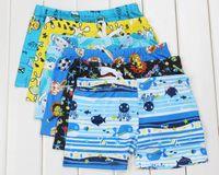 Cheap 10pcs lot. 3-6 year old children suit baby boy swimming cartoon trunks big boy swimwear child boxer bathing suit cartoon caps