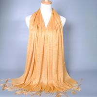 Fashion muslim lady scarf - 2015 NEW Fashion Winter Women Scarves Muslim scarf Tassels gold thread scarfs Girl Neck Scarf Fashion Lady Shawl WW77